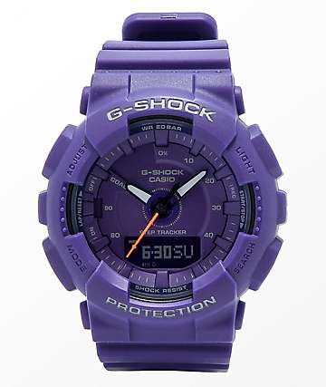 G-Shock GMAS130 Purple Mono Watch