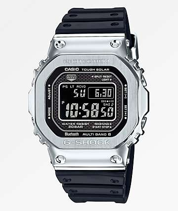 G-Shock GMWB5000-1 Resin Silver & Black Digital Watch