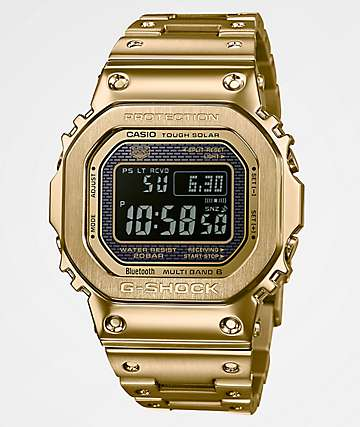 G-Shock GMWB5000 reloj digital de metal dorado