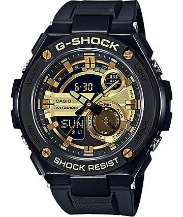 G-Shock GST210B-1A9 G-Steel reloj en negro y oro