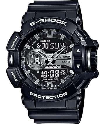 G-Shock Garish GA-400GB-1A reloj negro y plata