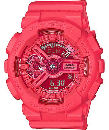 G-Shock Vivid Color GMAS110VC-4A Coral Digital Watch