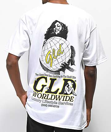 GLD Worldwide Luxury White T-Shirt