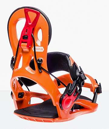 GNU Cheeter 2019 fijaciones de snowboard en naranja