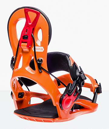 GNU Cheeter Orange Snowboard Bindings 2019