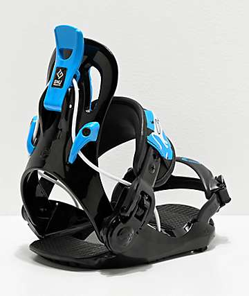 GNU Gnunior Black Snowboard Bindings Kid's 2020