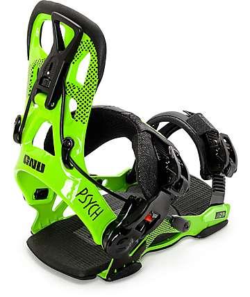 GNU Psych fijaciones de snowboard en verde