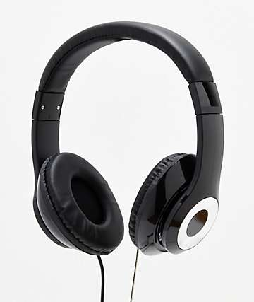 Gabba Goods Harmony Black Wired Headphones