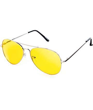 c5807c401b Gafas de sol aviador en colores plata y amarillo