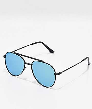 Gafas de sol estilo aviador en azul y verde