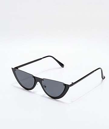 Gafas de sol ovaladas  en negro mate