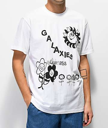 Galaxies Sunshine Day White T-Shirt
