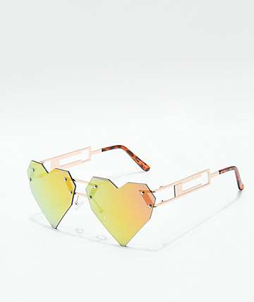 Gamble Geo Heartz Rose Sunglasses
