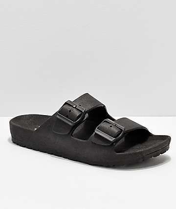 Gigi Antiks 2 Black Strap Sandals