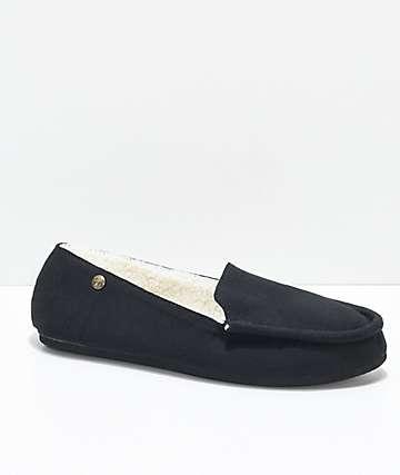 Gigi Apres Black Slippers