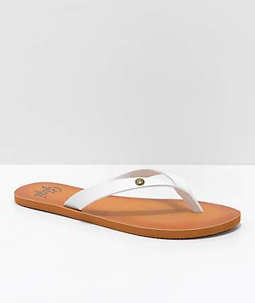 Gigi Breeze White Thong Sandals