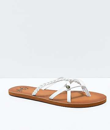 Gigi Star Strappy White Sandals
