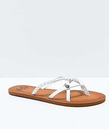 Gigi Star Strappy White Sandals