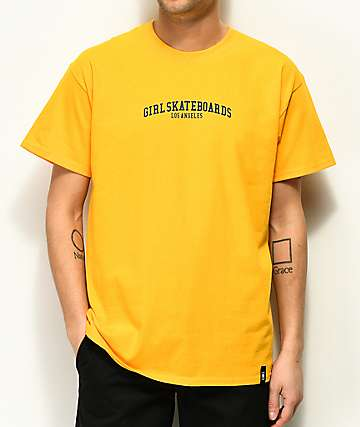 Girl Arched LA Standard Gold T-Shirt