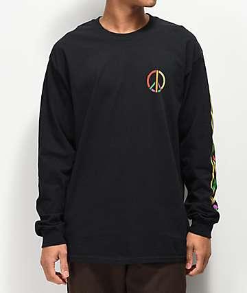 Girl Dashiki Black Long Sleeve T-Shirt