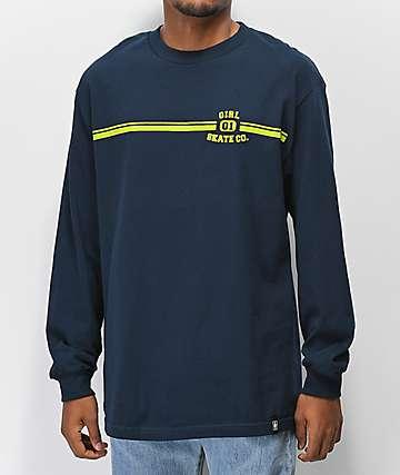 Girl J.V. camiseta de manga larga azul marino