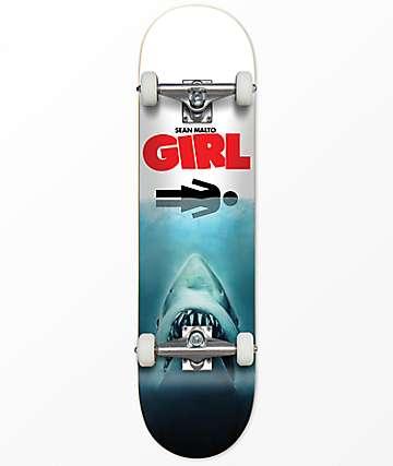 "Girl Malto Shark Attack 7.6"" completo de skate"
