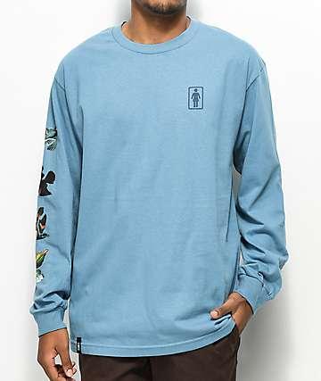 Girl Sanctuary camiseta de manga larga azul