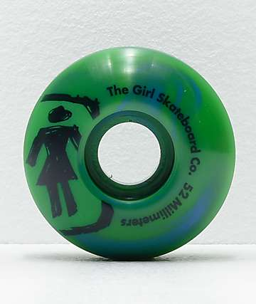 Girl Staple Sketchy Swirl 52mm Green & Blue Skateboard Wheels