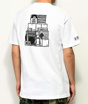 Girl X Sub Pop Stacked camiseta blanca
