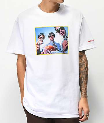 Girl x Beastie Boys Sabotage Photo White T-Shirt
