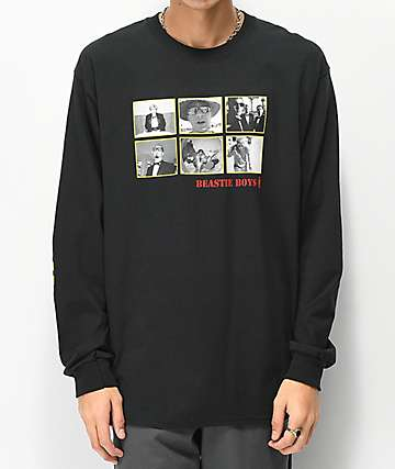 Girl x Beastie Boys Sure Shot Photos Black Long Sleeve T-Shirt