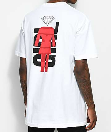 Girl x Diamond Supply Co. Camiseta blanca