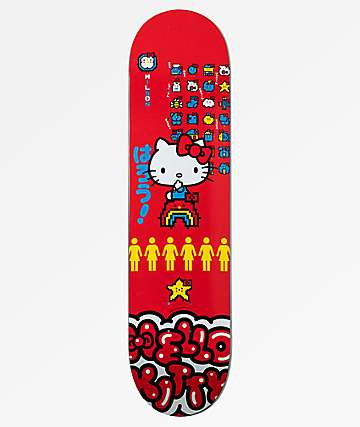 "Girl x Hello Kitty 45th Anniversary Wilson 7.875"" Skateboard Deck"