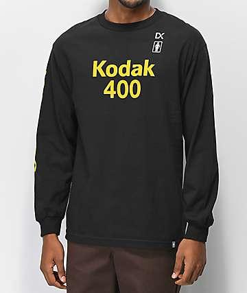 Girl x Kodak Gold 400 camiseta negra de manga larga