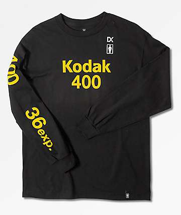 Girl x Kodak Kodak 400 Black & Gold Long Sleeve T-Shirt