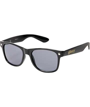 Glassy Leonard Glossy Black & Grey Sunglasses