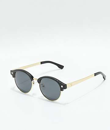 Glassy Paul Black & Gold Polarized Sunglasses