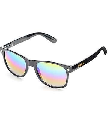 Glassy Sunhaters Leo Black & Colored Mirrored Sunglasses