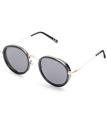 Glassy Sunhaters Lincoln Rose Gold & Black Sunglasses