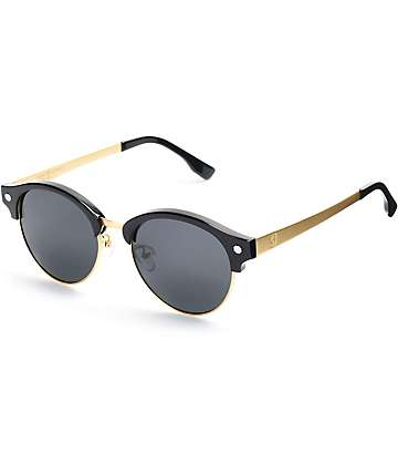 Glassy Sunhaters Paul Black & Gold Sunglasses