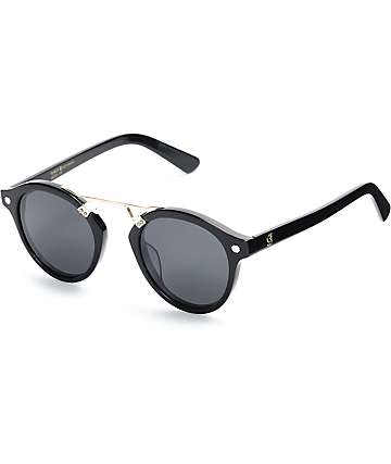Glassy Sunhaters Swift Black & Gold Polarized Sunglasses