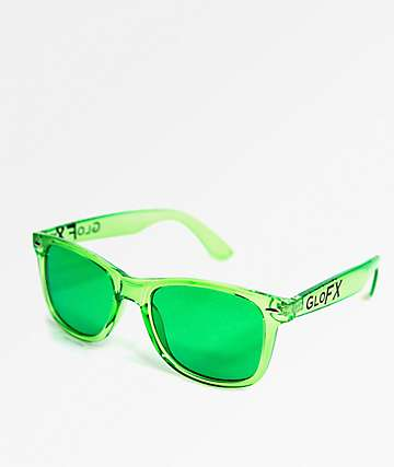 GloFX Color Therapy Green Sunglasses