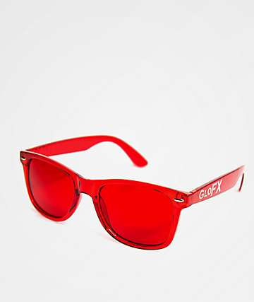 GloFX Color Therapy Red Sunglasses