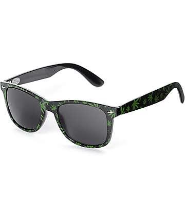 GloFX gafas de difracción con patrón mariguana