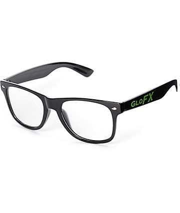 GloFX gafas negras de difracción