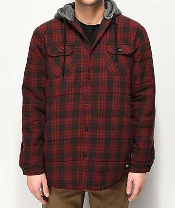 Globe Alford III Red Plaid Hooded Jacket