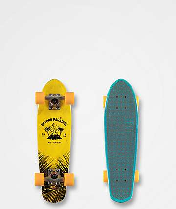 "Globe Bantam Evo 24"" Yellow & Blue Cruiser Skateboard Complete"