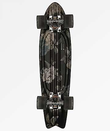 """Globe Bantam St Black Roses 23"""" Cruiser Complete Skateboard"""