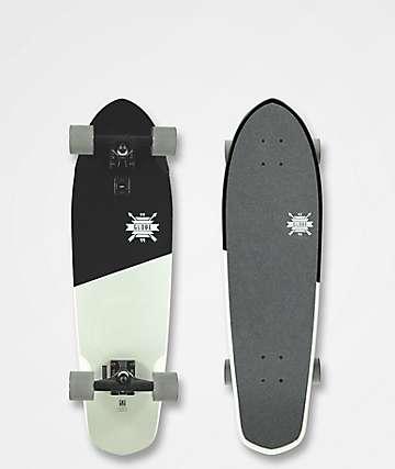 "Globe Big Blazer Black & White 32"" Cruiser Complete Skateboard"