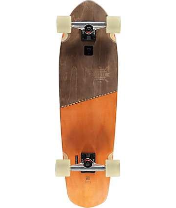 """Globe Big Blazer tabla de skate cruiser completo 32"""" en café y naranja"""